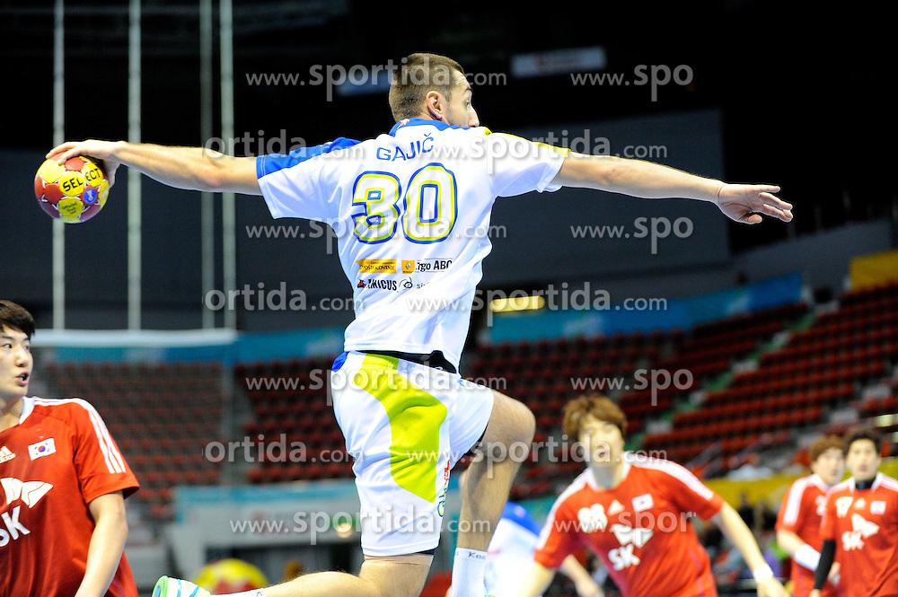 Dragan Gajic Shoot on goal at match against Sout Korea