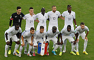 France line up for a group picture before the 2014 FIFA World Cup Group E match at Maracana Stadium, Rio de Janeiro<br /> Picture by Andrew Tobin/Focus Images Ltd +44 7710 761829<br /> 25/06/2014