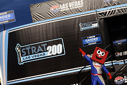 March 1, 2019 - Las Vegas, NV, U.S. - LAS VEGAS, NV - MARCH 01: Pit Boss is introduced to the crowd before the start of the NASCAR Gander Outdoors Truck Series The Strat 200 on March 1, 2019, at Las Vegas Motor Speedway in Las Vegas, Nevada. (Photo by Michael Allio/Icon Sportswire) (Credit Image: © Michael Allio/Icon SMI via ZUMA Press)