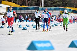YOUNG Emily CAN LW6, BATENKOVA-BAUMAN Yuliia UKR LW6, VARONA Larysa BLR LW8, MILENINA Anna NPA LW8 competing in the ParaSkiDeFond, Para Nordic Skiing, Sprint at  the PyeongChang2018 Winter Paralympic Games, South Korea.