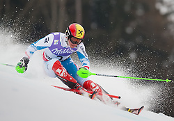17.02.2013, Planai, Schladming, AUT, FIS Weltmeisterschaften Ski Alpin, Slalom, Herren, 1. Durchgang, im Bild Marcel Hirscher (AUT) // Marcel Hirscher of Austria in action during 1st run of the mensSlalom at the FIS Ski World Championships 2013 at the Planai Course, Schladming, Austria on 2013/02/17. EXPA Pictures © 2013, PhotoCredit: EXPA/ Johann Groder