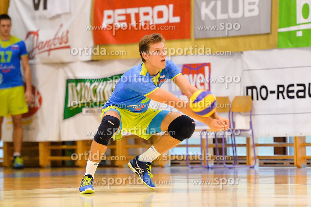 Saso Staleker of Slovenia during the Friendly Volleyball match between OK Panvita Pomgrad and U21 Nationalteam of Slovenia on August 28, 2015 in Murska Sobota, Slovenia. Photo by Mario Horvat / Sportida