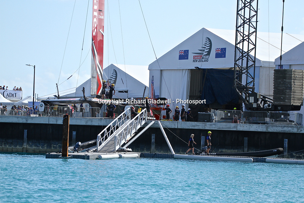 Emirates Team NZ prepare to pack away  - 35th America's Cup - Bermuda  May 28, 2017 . Copyright Image: Richard Gladwell / Sail World / www.photosport.nz