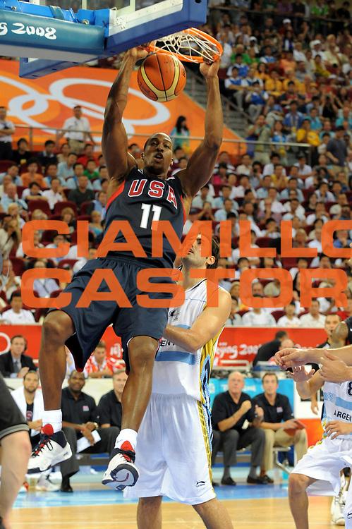 DESCRIZIONE : Beijing Pechino Olympic Games Olimpiadi 2008 Semifinale Argentina Usa<br />GIOCATORE : Dwyane Wade<br />SQUADRA : Usa<br />EVENTO : Olympic Games Olimpiadi 2008<br />GARA : Argentina Usa<br />DATA : 22/08/2008 <br />CATEGORIA : schiacciata<br />SPORT : Pallacanestro <br />AUTORE : Agenzia Ciamillo-Castoria/M.Ciamillo