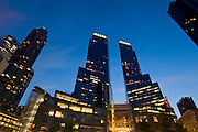 Time warner towers, Columbus circle, Upper west side, Manhattan,New York,U.S.A.