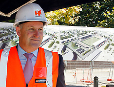 Christchurch-Prime Minister John Key visits new rugby stadium, the former Rugby League Park