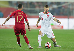 October 11, 2018 - Chorzow, Poland - Rafa Silva, Mateusz Klich (POL) during the UEFA Nations league match between Poland v Portugal at the Slaski Stadium on October 11, 2018 in Chorzow  (Credit Image: © Foto Olimpik/NurPhoto via ZUMA Press)