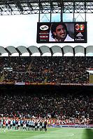 """Minuto di raccoglimento per Piermario Morosini<br /> Milano 22/4/2012 Stadio """"Giuseppe Meazza - San Siro""""<br /> Football Calcio 2011/2012 Serie A<br /> Milan Vs Bologna<br /> Foto Insidefoto Andrea Staccioli"""