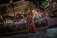Chewbacca on the Las Vegas strip.  Nevada.