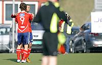 Fotball<br /> Norge<br /> 01.05.2011<br /> Foto: Morten Olsen, Digitalsport<br /> <br /> Første runde i NM<br /> Hasle-Løren v Moss 4:2<br /> <br /> HL jubler for scoring<br /> Adrian Thun (9) og Shire Standnes