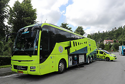 Tinkof bus on the parking lot before press conference of cycling race Po Sloveniji - Tour de Slovenie 2015 on June 15, 2016 in Hotel Jama, Postojna, Slovenia. Photo by Morgan Kristan / Sportida