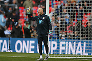 Manchester City goalkeeper Wilfredo Caballero (13)  during the Capital One Cup match between Liverpool and Manchester City at Anfield, Liverpool, England on 28 February 2016. Photo by Simon Davies.