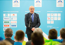 Bogdan Gabrovec, president of OKS during presentation of Slovenian Young Athletes before departure to EYOF (European Youth Olympic Festival) in Vorarlberg and Liechtenstein, on January 21, 2015 in Bled, Slovenia. Photo by Vid Ponikvar / Sportida