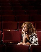 Rice University Spanish professor Marcela Salas is photographed at Hammon Hall Theater where she works with a theater group.