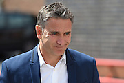 Nottingham Forest manager Philippe Montanier arrives at the City ground ahead of the EFL Sky Bet Championship match between Nottingham Forest and Burton Albion at the City Ground, Nottingham, England on 6 August 2016. Photo by Jon Hobley.