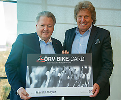 22.03.2019, Leonding, AUT, Generalversammlung, Österreich, Österreichicher Radsportverband im Bild Dir. Harald Mayer, (ÖRV Präsident) Gen.-Dir. Otto Flum (EX ÖRV Präsident)// during the general assembly of Austrian cycling federation at Leonding, Austria on 2019/03/23. EXPA Pictures © 2019, PhotoCredit: EXPA/ Reinhard Eisenbauer
