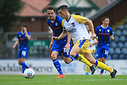 Matty Gillam looks to win the ball during the EFL Sky Bet League 1 match between Rochdale and Gillingham at Spotland, Rochdale, England on 15 September 2018.