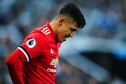 Alexis Sanchez of Manchester United looks dejected - Mandatory by-line: Matt McNulty/JMP - 11/02/2018 - FOOTBALL - St James Park - Newcastle upon Tyne, England - Newcastle United v Manchester United - Premier League