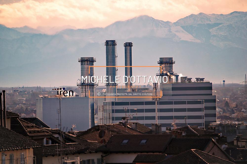 Centrale di cogenerazione e teleriscaldamento Iren di Moncalieri  (Torino)