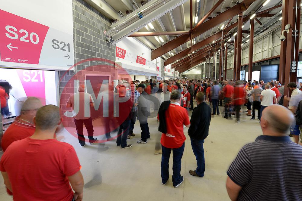 Fans arrive in the new South Stand - Mandatory byline: Dougie Allward/JMP - 07966386802 - 15/08/2015 - FOOTBALL - Ashton Gate -Bristol,England - Bristol City v Brentford - Sky Bet Championship