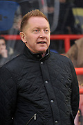 Aldershot Town manager Gary Waddock during the Vanarama National League match between Aldershot Town and Ebbsfleet United at the EBB Stadium, Aldershot, England on 20 January 2018. Photo by Alistair Wilson.
