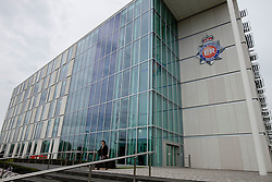 © Licensed to London News Pictures. 29/08/2012 . Manchester, UK . GV general view of GMP force headquarters in Newton Heath , Manchester . Greater Manchester Police are offering a £50,000 cash reward to anyone who can give information that'll lead to the arrest of Dale Cregan and Anthony Wilkinson . The two men are wanted in connection with the death of David Short . Photo credit : Joel Goodman/LNP