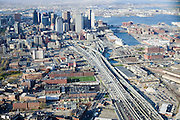 """East coast cities typically have more treacherous, crowded highway systems than their newer West Coast counterparts. Rush hour traffic on interstate 93 pours in and out of Boston's divided Tip O'Neill Tunnel. This tunnel was part of the $17 billion """"Big Dig"""" project, built in part to depress the elevated Central Artery that cut the downtown off from the city's waterfront."""