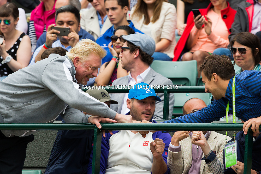 BORIS BECKER, NOVAK DJOKOVIC TEAM<br /> <br /> Tennis - Wimbledon 2016 - Grand Slam ITF / ATP / WTA -  AELTC - London -  - Great Britain  - 2 July 2016.