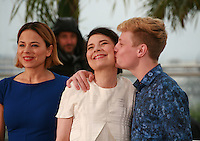 Suzanne Clément, Anne Dorval and Antoine-Olivier Pilon, at the photo call for the film Mommy at the 67th Cannes Film Festival, Thursday 22nd May 2014, Cannes, France.