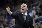 Nov 15, 2019; Los Angeles, CA, USA; UCLA Bruins head coach Mick Cronin reacts against the UCLA Bruins in the first half at Pauley Pavilion. UCLA defeated UNLV 71-54.
