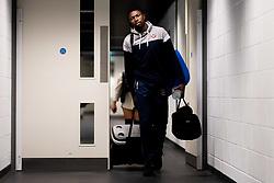 Daniel Edozie of Bristol Flyers arrives at Copper Box Arena prior to kick off - Photo mandatory by-line: Ryan Hiscott/JMP - 18/12/2019 - BASKETBALL - Copper Box Arena - London, England - London Lions v Bristol Flyers - British Basketball League Championship
