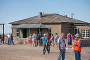 "McDonald Ranch house where the bomb core was assembled at Site Trinity, ground zero, on the White Sands Missile Range in S. New Mexico. Site of the world's first atomic explosiion on August 6, 1945. The atomic bomb was developed by the Manhatten Project. The Manhattan Project refers to the effort during World War II by the United States, in collaboration with the United Kingdom, Canada, and other European physicists, to develop the first nuclear weapons. Formally designated as the Manhattan Engineering District (MED), it refers specifically to the period of the project from 1942-1946 under the control of the U.S. Army Corps of Engineers, under the administration of General Leslie R. Groves, with its scientific research directed by the American physicist J. Robert Oppenheimer. The project succeeded in developing and detonating three nuclear weapons in 1945: a test detonation on July 16 (the Trinity test) near Alamogordo, New Mexico; an enriched uranium bomb code-named ""Little Boy"" detonated on August 6 over Hiroshima, Japan; and a plutonium bomb code-named ""Fat Man"" on August 9 over Nagasaki, Japan. (http://en.wikipedia.org/wiki/Manhattan_Project)"