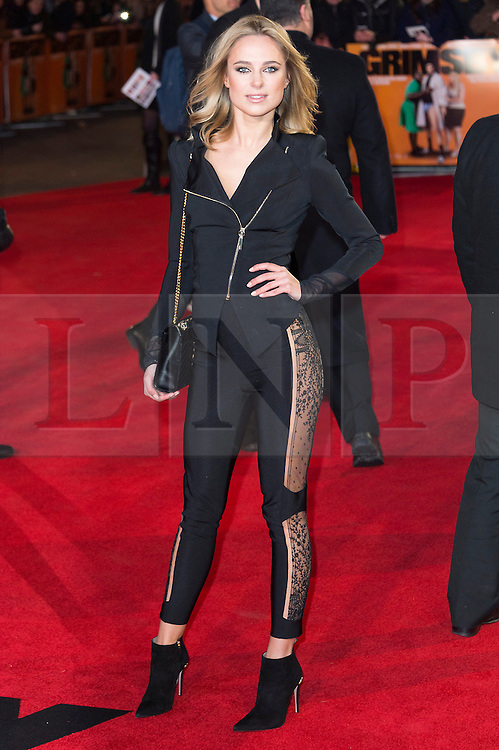 © Licensed to London News Pictures. 22/02/2016. KIMBERLEY GARNER attends the GRIMSBY Film premiere. The film centres around a black-ops spy whose brother is a football hooligan.  London, UK. Photo credit: Ray Tang/LNP
