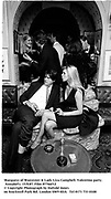 Marquess of Worcester & Lady Liza Campbell. Valentino party. Annabel's. 15/9/87. Film 87766f12<br />© Copyright Photograph by Dafydd Jones<br />66 Stockwell Park Rd. London SW9 0DA<br />Tel 0171 733 0108