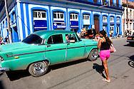 Street scene in Cardenas, Matanzas, Cuba.
