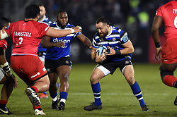 Tom Dunn of Bath Rugby in possession - Mandatory byline: Patrick Khachfe/JMP - 07966 386802 - 29/11/2019 - RUGBY UNION - The Recreation Ground - Bath, England - Bath Rugby v Saracens - Gallagher Premiership