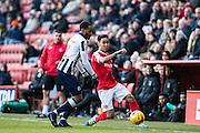 {persons}, M2Millwall defender Shaun Cummings (2), C3Charlton Athletic defender Adam Chicksen (3)  during the EFL Sky Bet League 1 match between Charlton Athletic and Millwall at The Valley, London, England on 14 January 2017. Photo by Sebastian Frej.