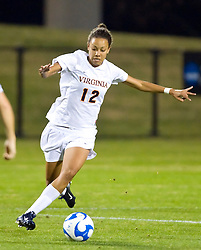 Virginia Cavaliers forward Jess Rostedt (12) in action against Army.  The #16 ranked Virginia Cavaliers defeated the Army Black Knights 2-0 in the first round of NCAA Division 1 Women's Soccer Tournament at Klockner Stadium on the Grounds of the University of Virginia in Charlottesville, VA on November 14, 2008.