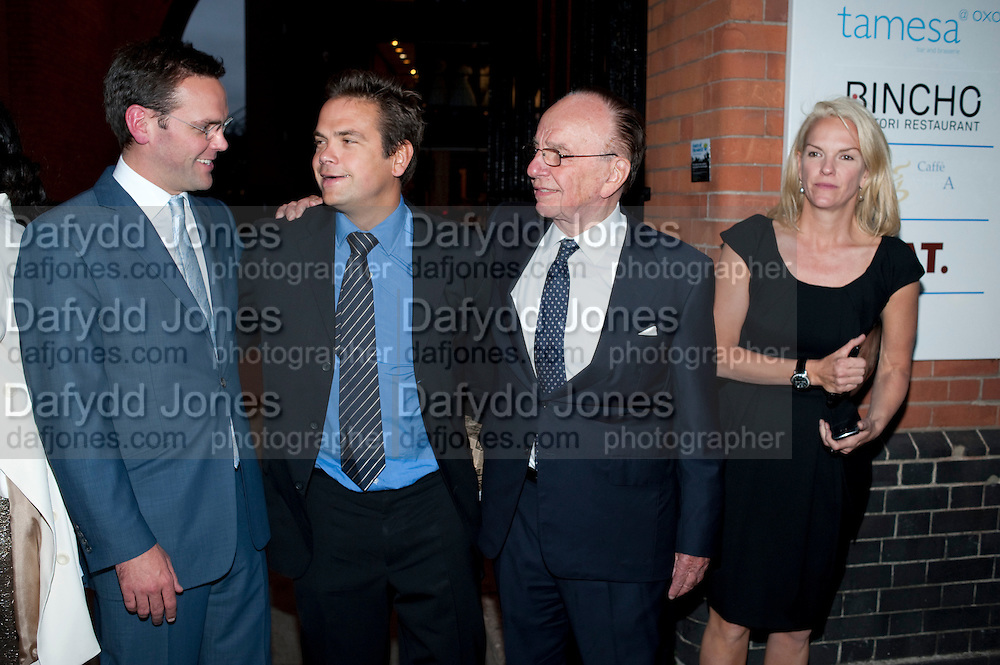 JAMES MURDOCH; LACHLAN MURDOCH; RUPERT MURDOCH; ELIZABETH MURDOCH,  Summer party hosted by Rupert Murdoch. Oxo Tower, London. 17 June 2009