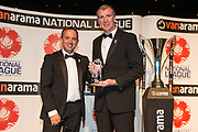 Manager of the Year award Jim Gannon Stockport County during the National League Gala Awards at Celtic Manor Resort, Newport, United Kingdom on 8 June 2019.