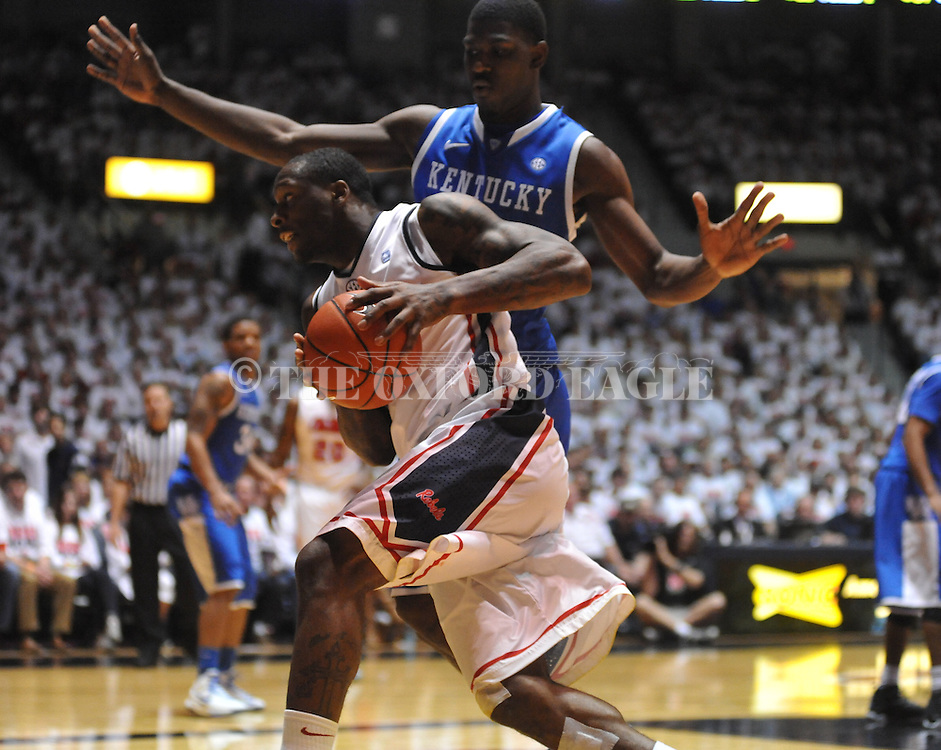"Ole Miss' Murphy Holloway (31) vs. Kentucky at the C.M. ""Tad"" Smith Coliseum on Tuesday, January 29, 2013. Kentucky won 87-74."