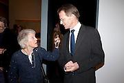 UNITY SPENCER; SIR NICHOLAS SEROTA, Migrations private view, Tate Britain. London. 30 January 2012.