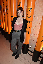 Chloe Howl at Sambazonia presented by Sushisamba and Cool Earth at SushiSamba, 110 Bishopsgate, City of London England. 28 February 2017.