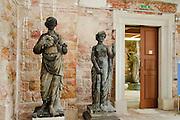 Großer Garten, Palais, innen, Permoser Ausstellung, barocke SkulpturenDresden, Sachsen, Deutschland.|.Grosser Garten, Palais, interior, baroque sculptures by Permoser, Dresden, Germany