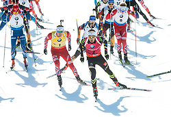 SVENDSEN Emil Hegle (NOR), FOURCADE Martin (FRA) and other athletes compete during Men 15 km Mass Start at day 4 of IBU Biathlon World Cup 2014/2015 Pokljuka, on December 21, 2014 in Rudno polje, Pokljuka, Slovenia. Photo by Vid Ponikvar / Sportida