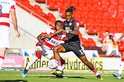 Peterborough United forward Ivan Toney (17) in action during the EFL Sky Bet League 1 match between Doncaster Rovers and Peterborough United at the Keepmoat Stadium, Doncaster, England on 21 September 2019.