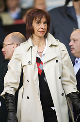 LIVERPOOL, ENGLAND - Thursday, May 14, 2009: Maria di Montserrat Benitez, wife of Liverpool's manager Rafael Benitez during the Hillsborough Memorial Charity Game at Anfield. (Photo by David Rawcliffe/Propaganda)