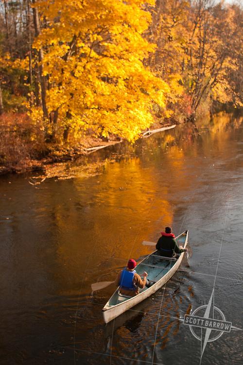 Canoe on Fall River.