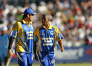CAPE TOWN, SOUTH AFRICA - 20 April 2008, Graeme Smith and Vernon Philander during the Standard Bank Pro 20 Semi Final match between The Nashua Cape Cobras and Nashus Titans held at Sahara Park Newlands in Cape Town, South Africa..Photo by www.sportzpics.net