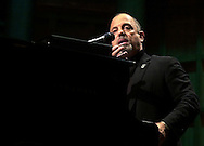 """FILE PHOTO--Grammy Award winning singer/songwriter Billy Joel answers a question from the audience, during a perfomance, Tuesday, Nov. 6, 2001, in Philadelphia.  Joel's record label announced June 19, 2002 that the singer has checked himself into a substance abuse and psychiatric hospital in Connecticut for treatment of a """"personal problem.""""(Photo by William Thomas Cain/photodx.com)"""